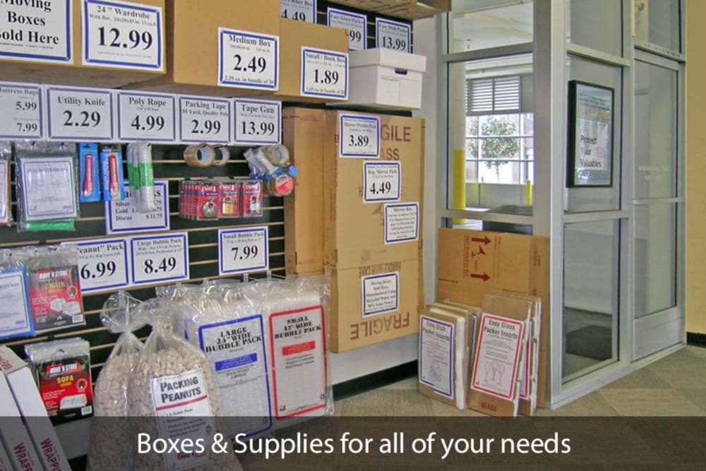 SOMA Self-Storage offers plenty of packing supplies in San Francisco, California