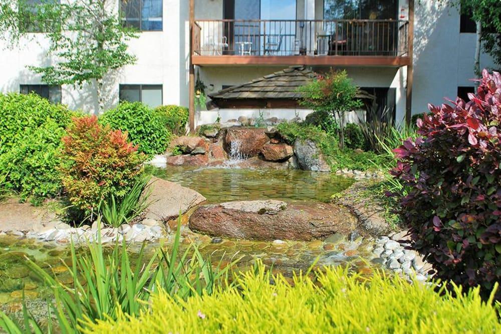 Lovely pond area at Roseville Commons Senior Living in Roseville, California