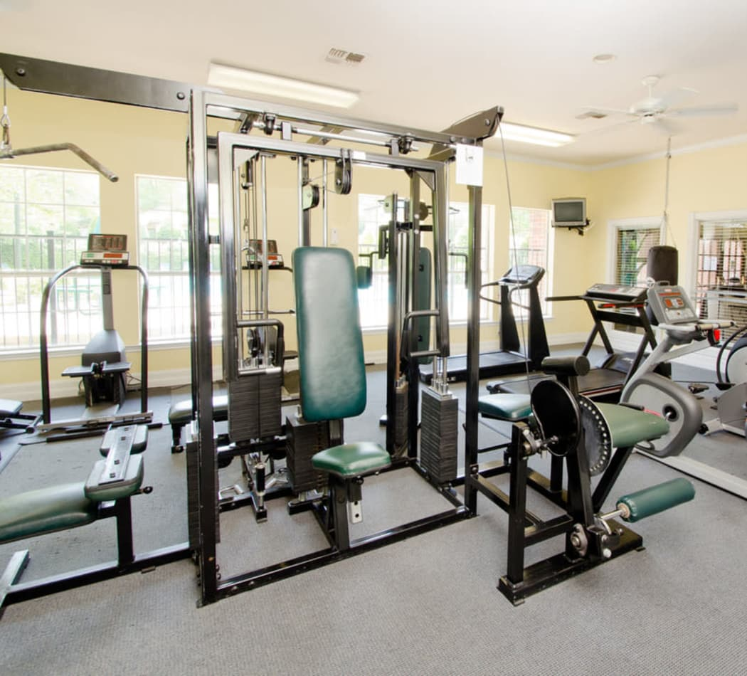 Enjoy a well-equipped fitness center in Antioch, Tennessee
