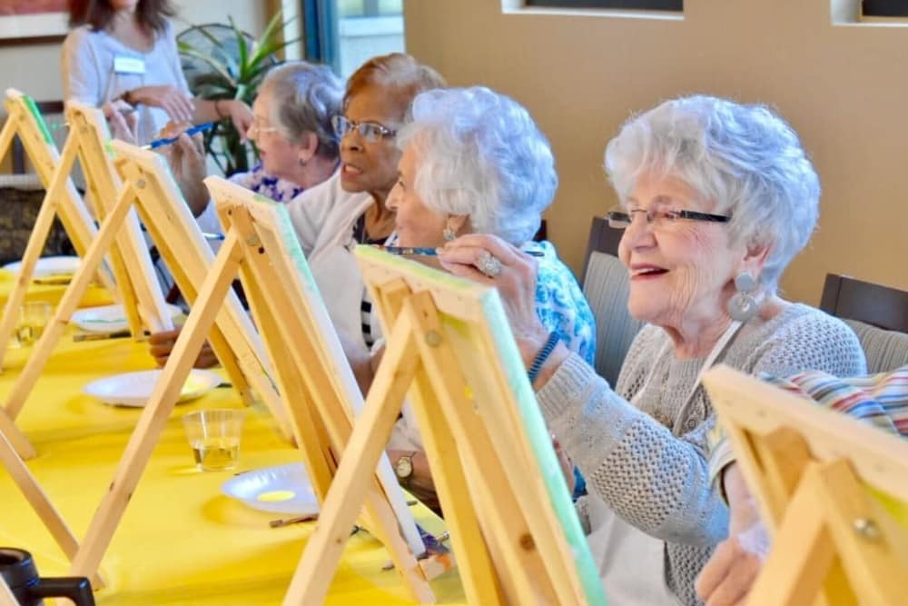 Paint and sip at Merrill Gardens at Burien