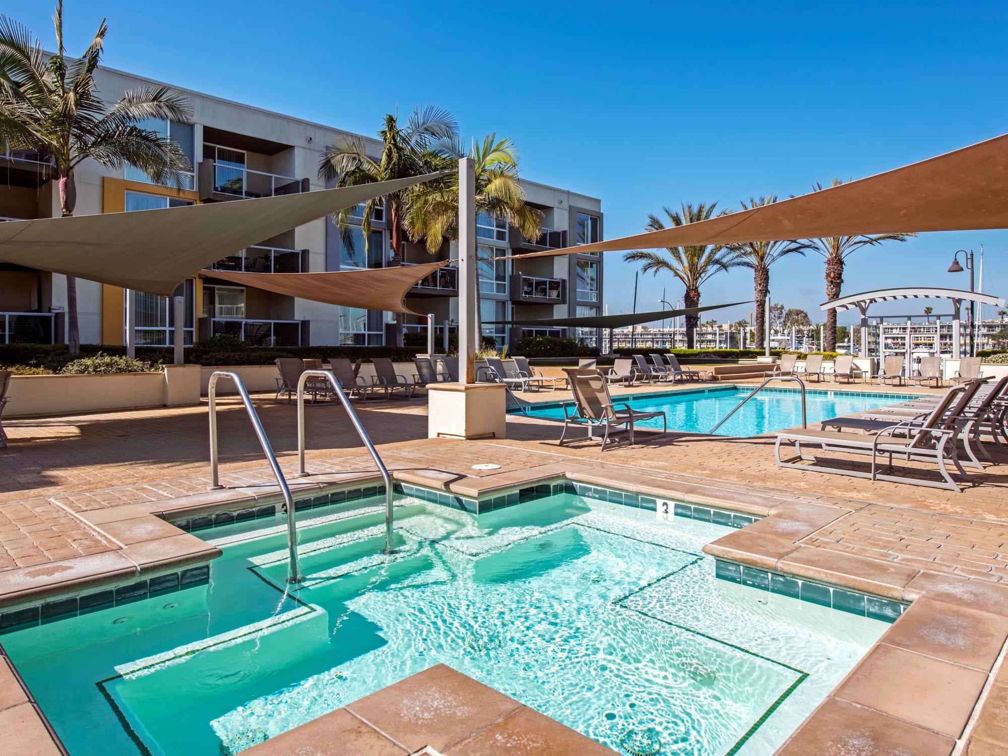 Spa near the swimming pool at The Tides at Marina Harbor in Marina Del Rey, California