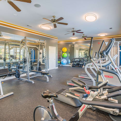 View virtual tour of the fitness center at The Braxton in Palm Bay, Florida