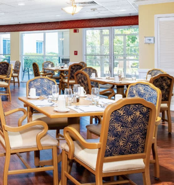 Dining hall at Grand Villa of Clearwater in Florida
