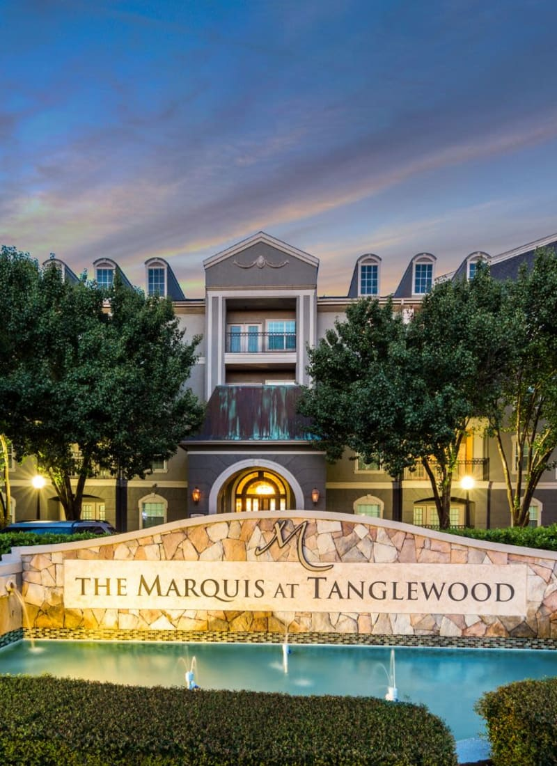 Exterior of Marquis at Tanglewood in Houston, Texas