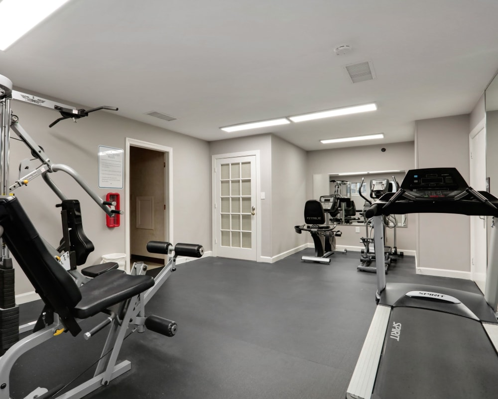 Fitness center at Peppertree Apartments in Winchester, Virginia