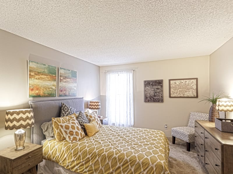 Guest bedroom at Westhills Apartment Homes