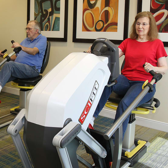 Fitness center for our residents at Prairie House Assisted Living and Memory Care in Broken Arrow, Oklahoma