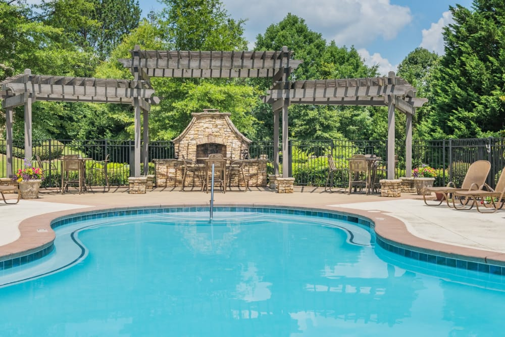Luxury swimming pool at One Rocky Ridge Apartment Homes in Douglasville, Georgia