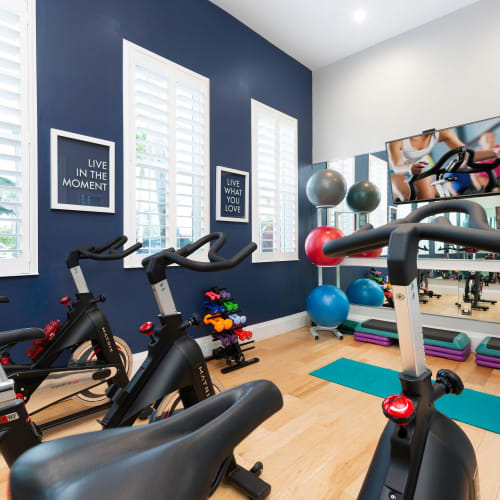 View virtual of our spin and yoga room at High Ridge Landing in Boynton Beach, Florida