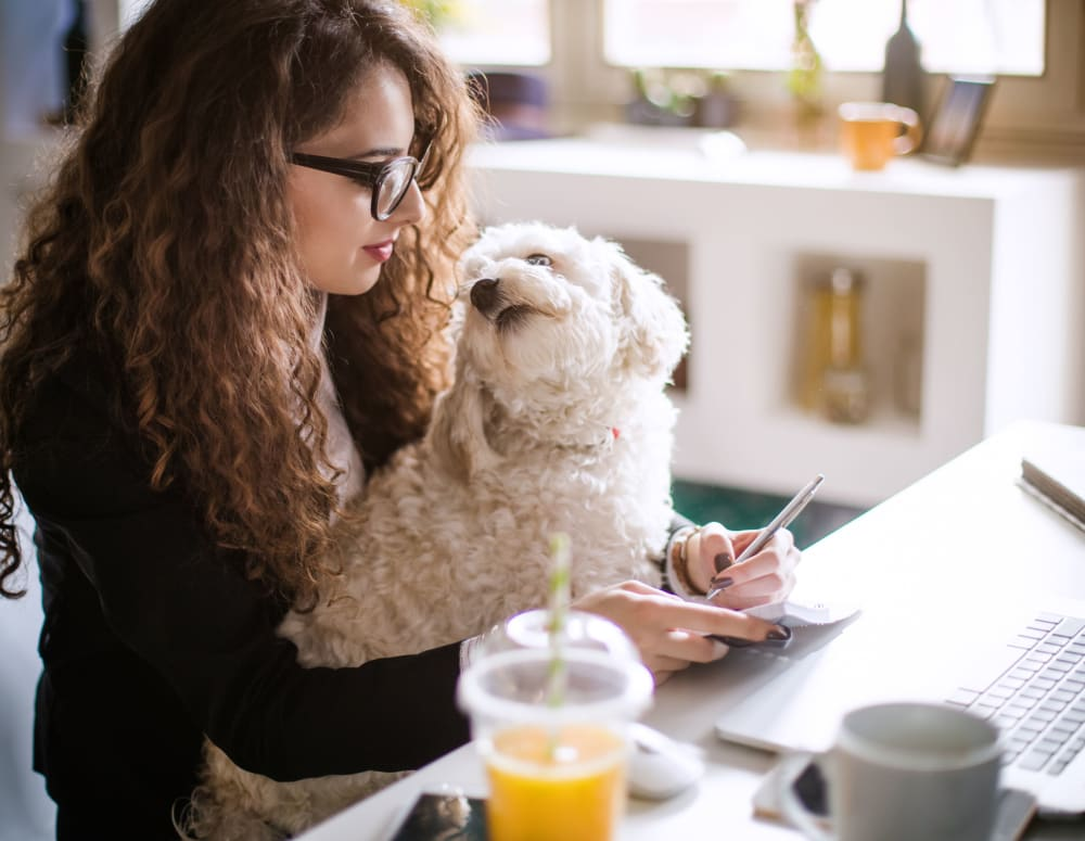 Future resident applying to live at pet-friendly student apartments at HERE Tuscaloosa in Tuscaloosa, Alabama