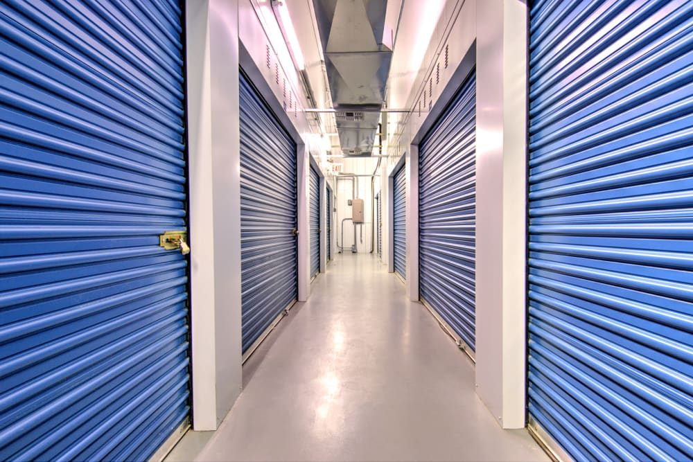Indoor storage units at A Safe Keeping Self Storage in Cape May Court House, New Jersey