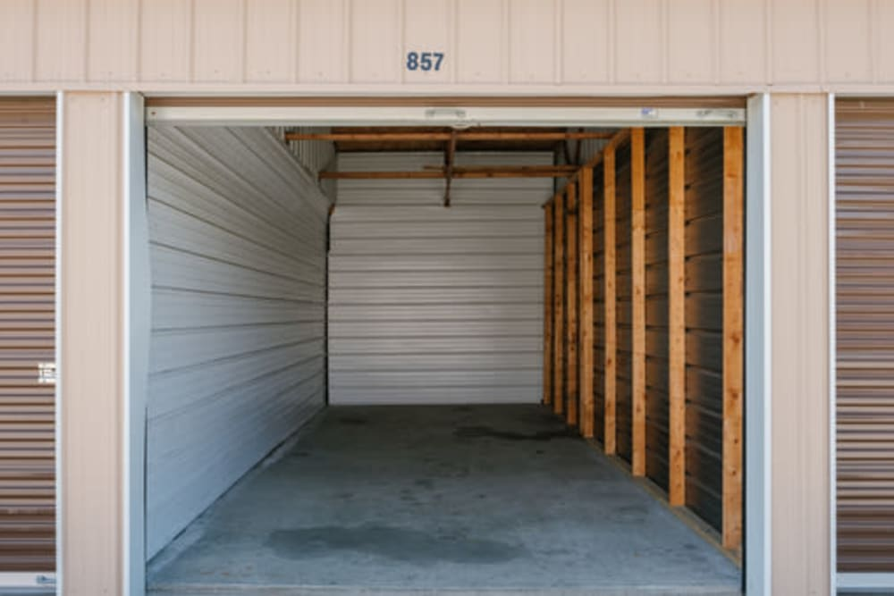 Roll-up doors on self storage units at StayLock Storage in Elkhart, Indiana