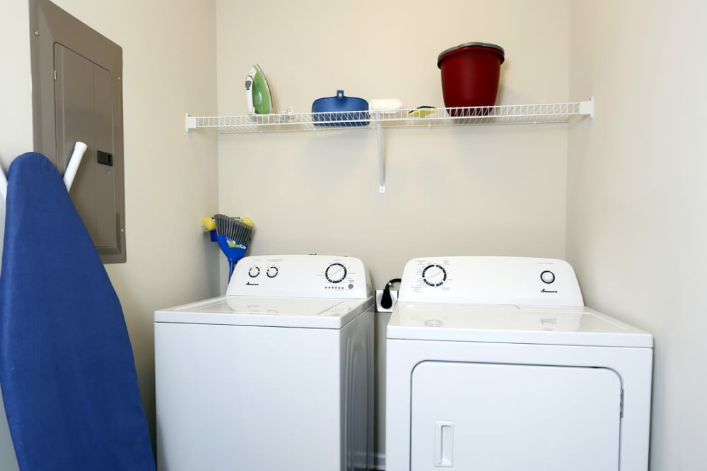 Laundry room at The Village at Mill Creek in Statesboro, Georgia