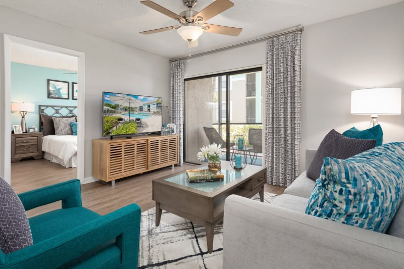 Living room at The EnV in Hollywood, Florida