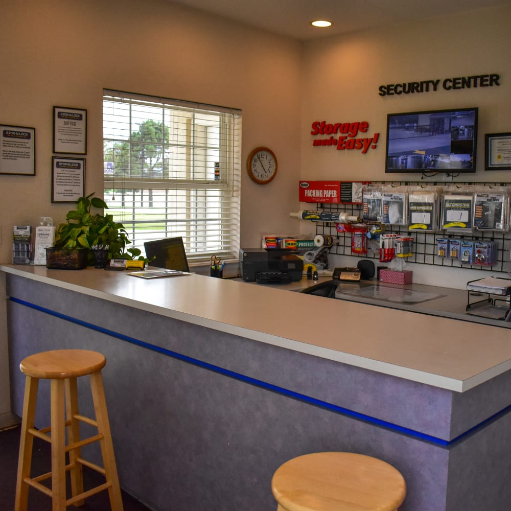 Inside the welcoming office at STOR-N-LOCK Self Storage in Littleton, Colorado