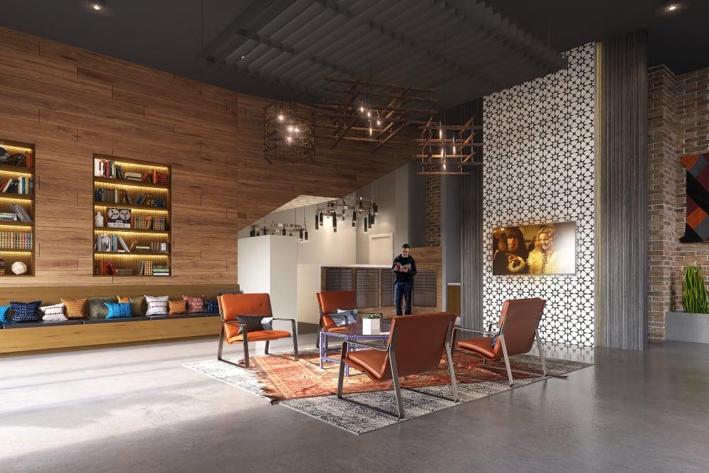 Interior rendering of 4th + J in San Diego, California