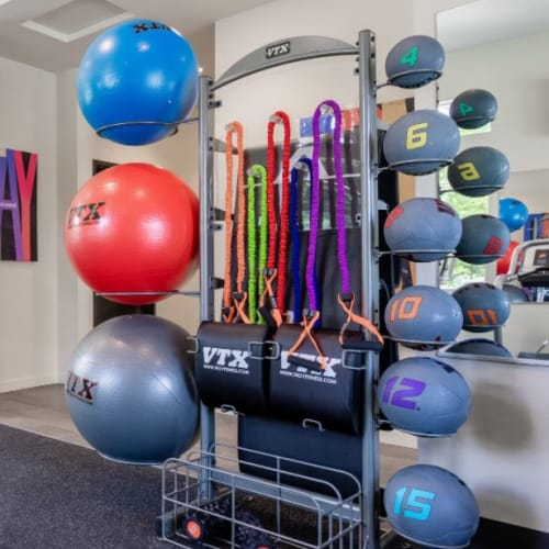 Gym equipment at Haven Hills in Vancouver, Washington