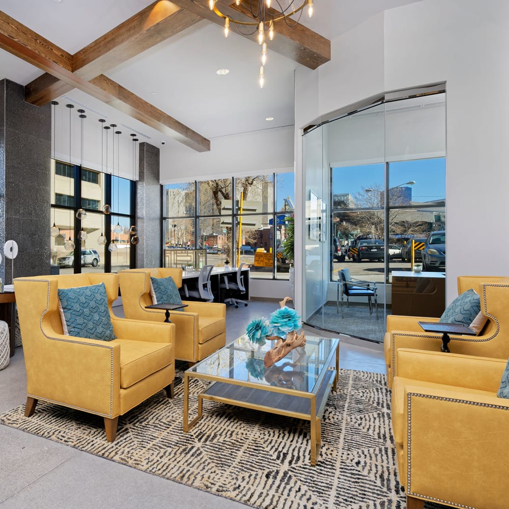 Beautiful Resident Lounge at Civic Lofts in Denver, Colorado