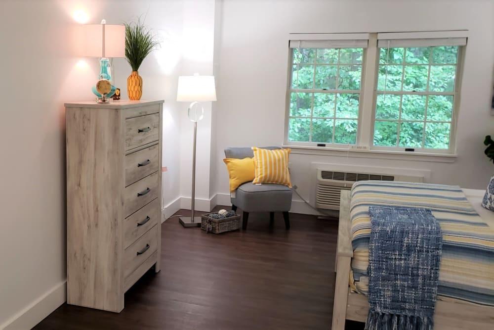 Wood Haven Senior Living in Tewksbury, Massachusetts offers a bedroom