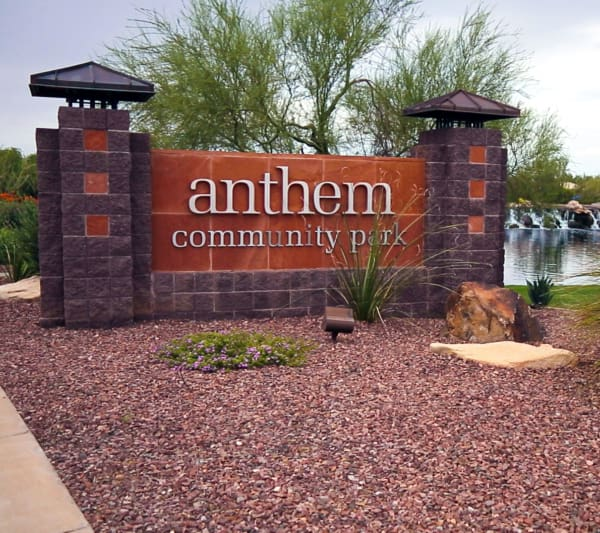 Senior living in Anthem has a pond nearby