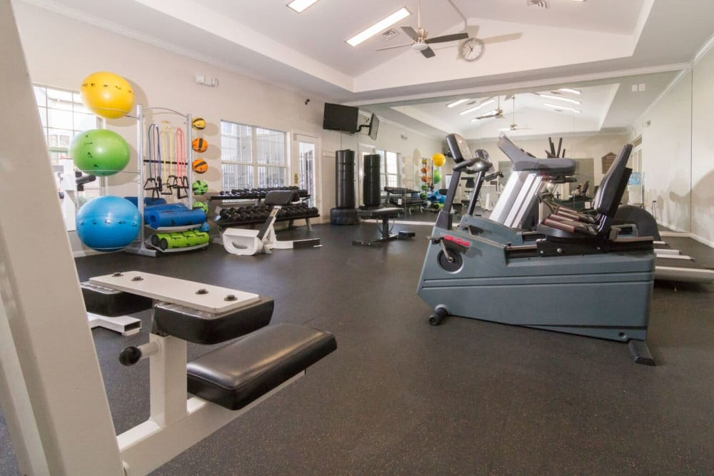 fitness center at Alpine Meadows Apartments