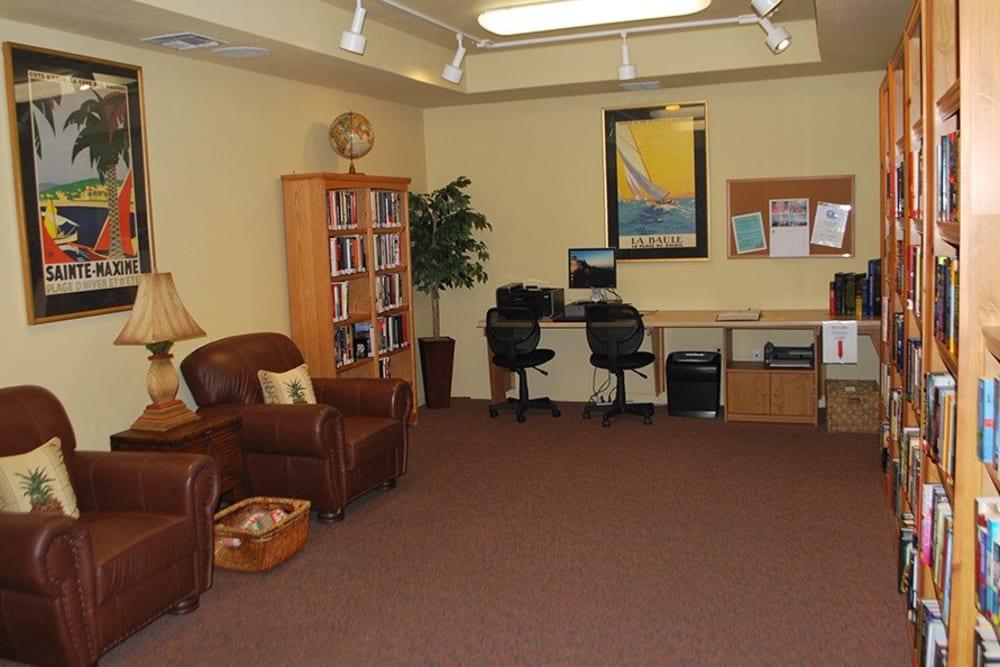Computer room at Winding Commons Senior Living in Carmichael, California