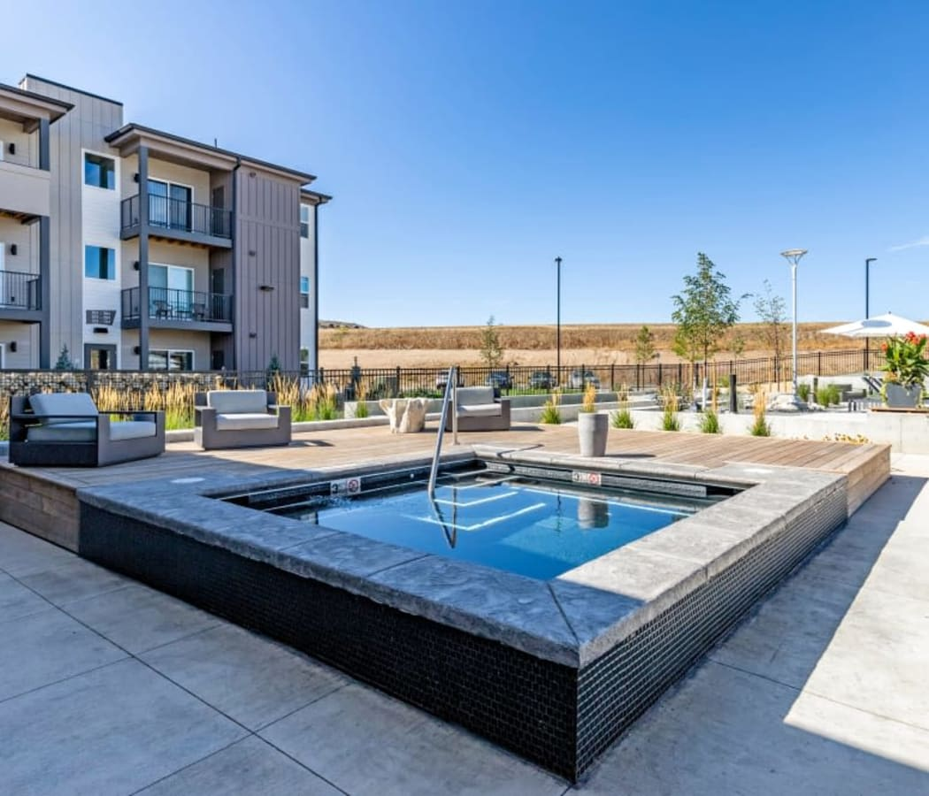 Hot tub at The Wyatt Apartments in Fort Collins, Colorado
