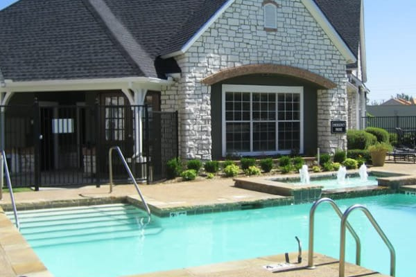 Pool house at Stonehaven Villas in Tulsa, Oklahoma