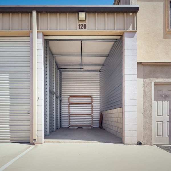 Inside a storage unit at Stor'em Self Storage in Rancho Cucamonga, California