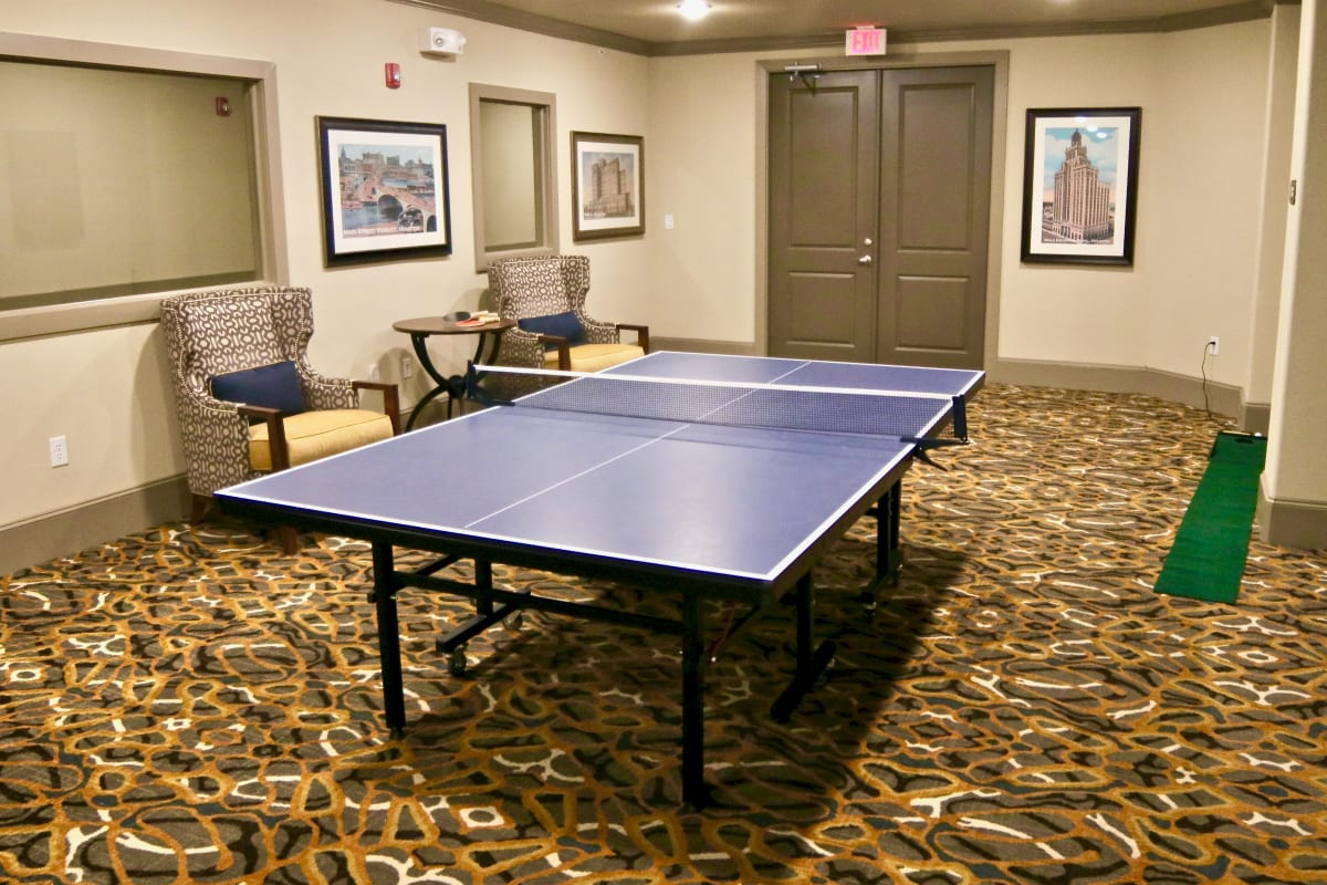 A table tennis table at Watercrest at Shadow Creek Ranch in Pearland, Texas