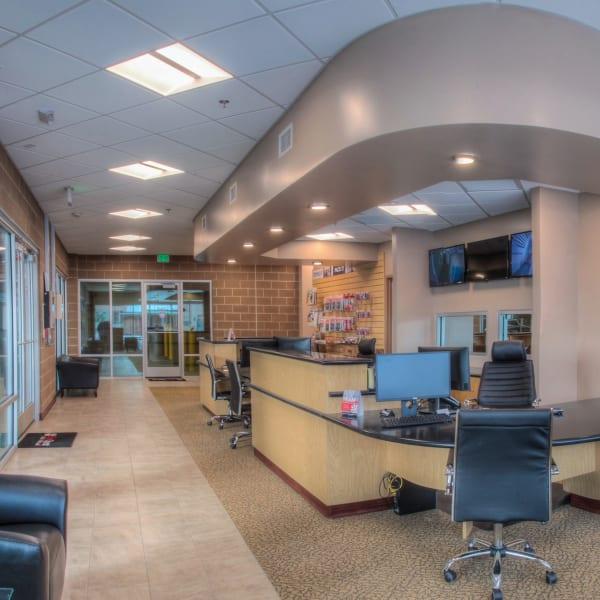 Interior of leasing office at StorQuest Self Storage in Denver, Colorado