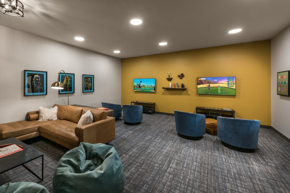 Entertainment area at Carnegie Heights at Henderson in Henderson, Nevada