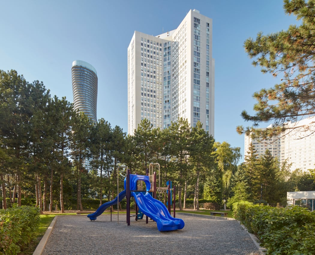 Lovely playground at Mississauga Place in Mississauga, Ontario