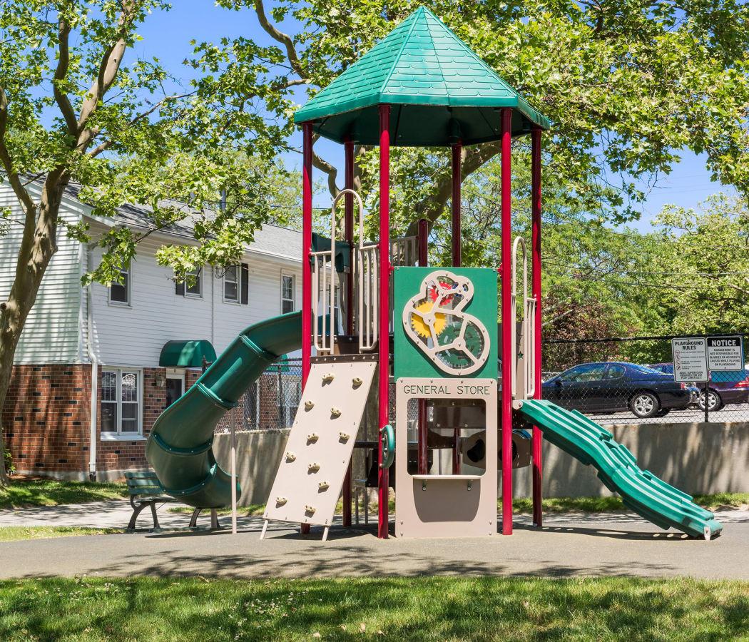 Onsite playground at President Village in Fall River, Massachusetts