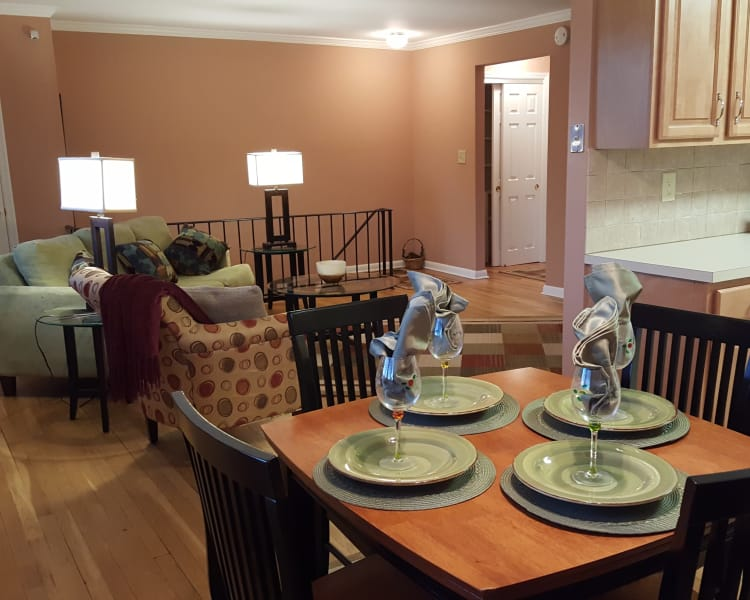 Hardwood floors and more at Wingate Apartments