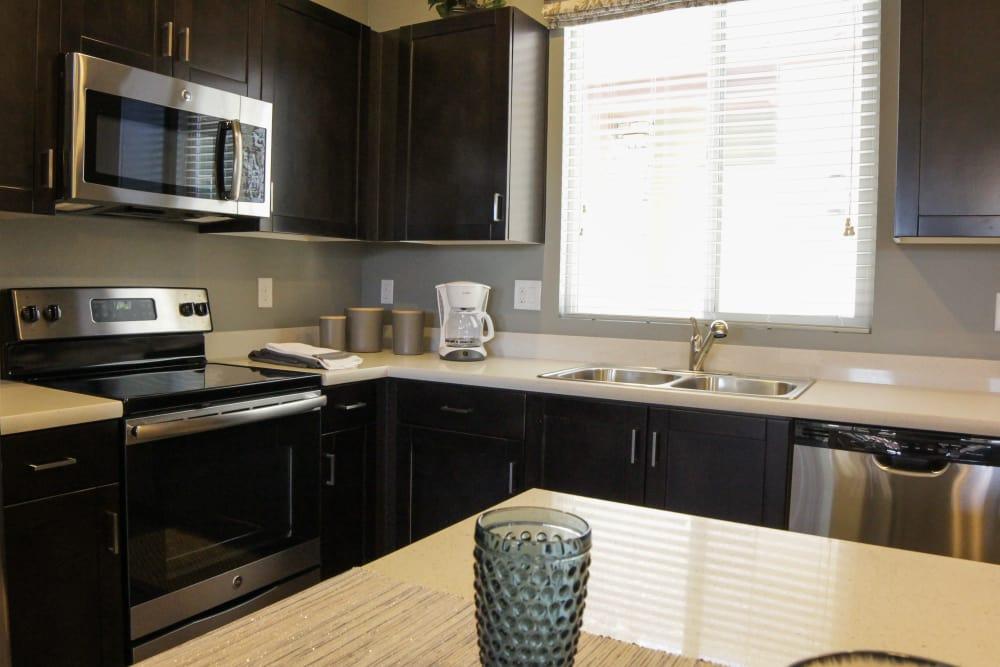 Model kitchen at Avilla Town Square in Gilbert, Arizona