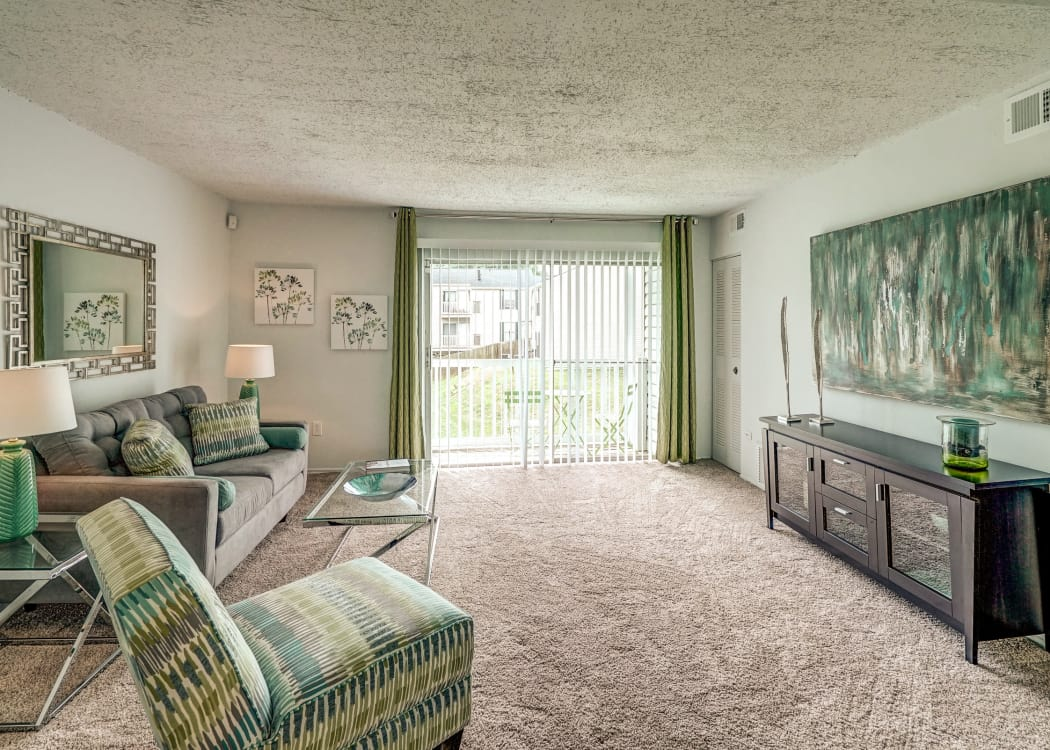 Spacious living room at Aston Ridge Apartments