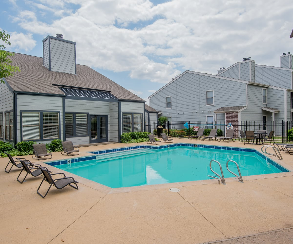 Pool at Cedar Glade Apartments in Tulsa, Oklahoma