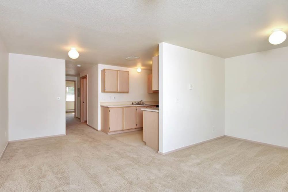 Spacious Living Room At Marketplace Apartments In Vancouver WA