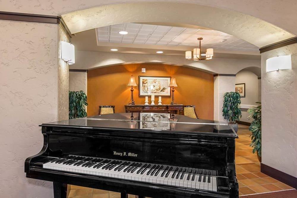 Grand piano at Merrill Gardens at Green Valley Ranch in Henderson, Nevada.