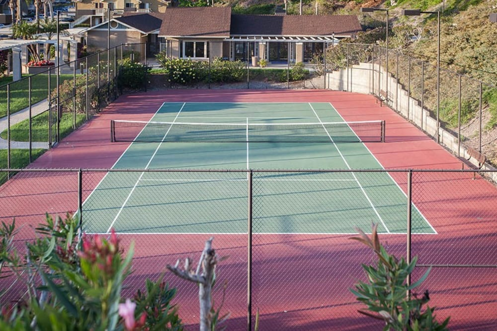 The tennis court at Lakeview Village Apartments in Spring Valley, California