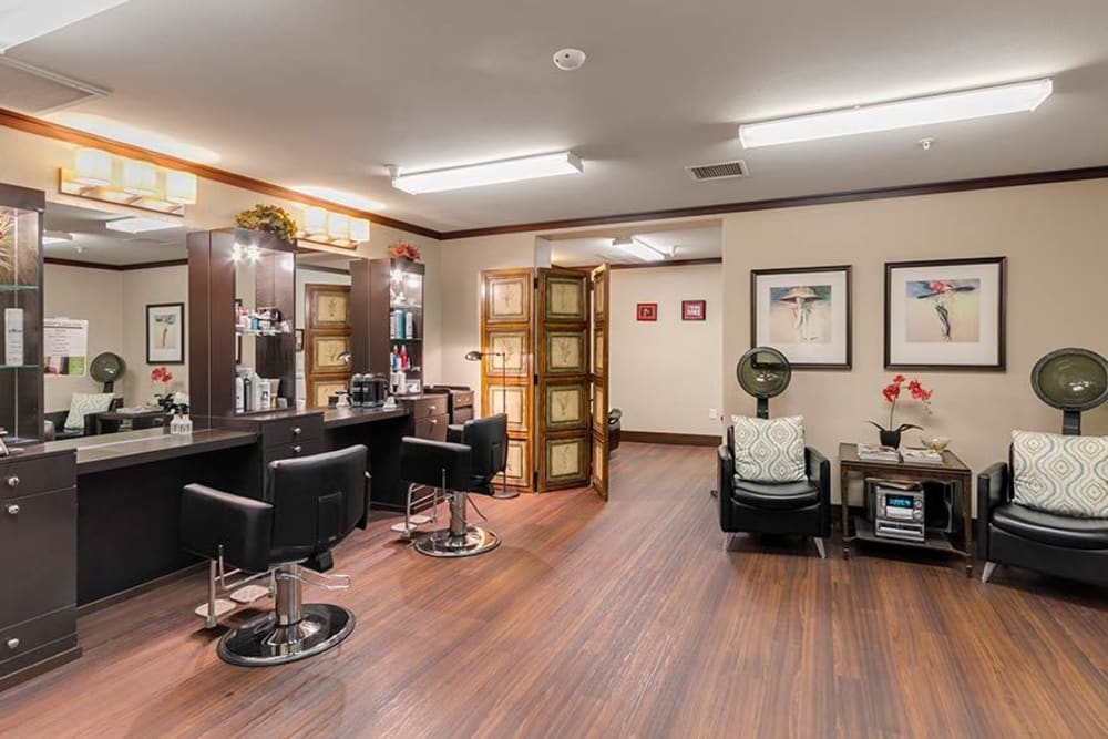 Onsite salon at Merrill Gardens at Green Valley Ranch in Henderson, Nevada