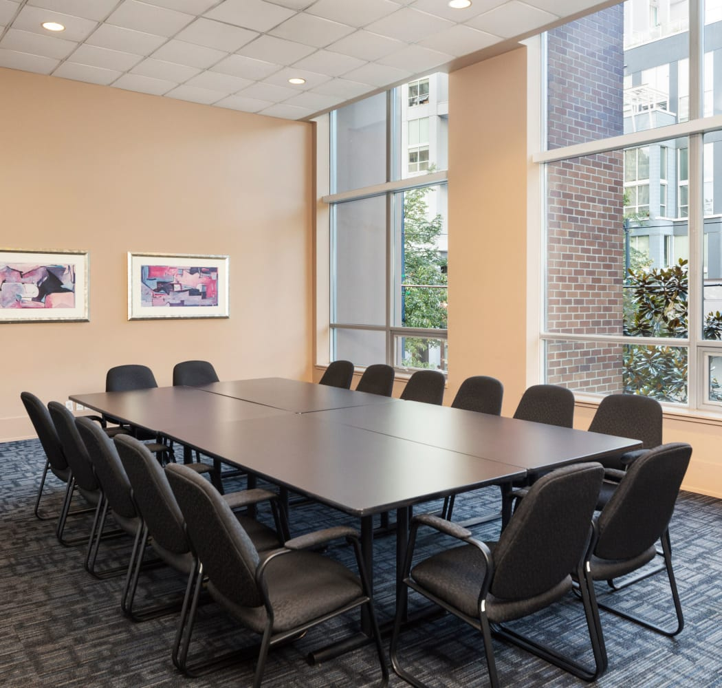 Metropolitan Towers conference room in Vancouver, British Columbia