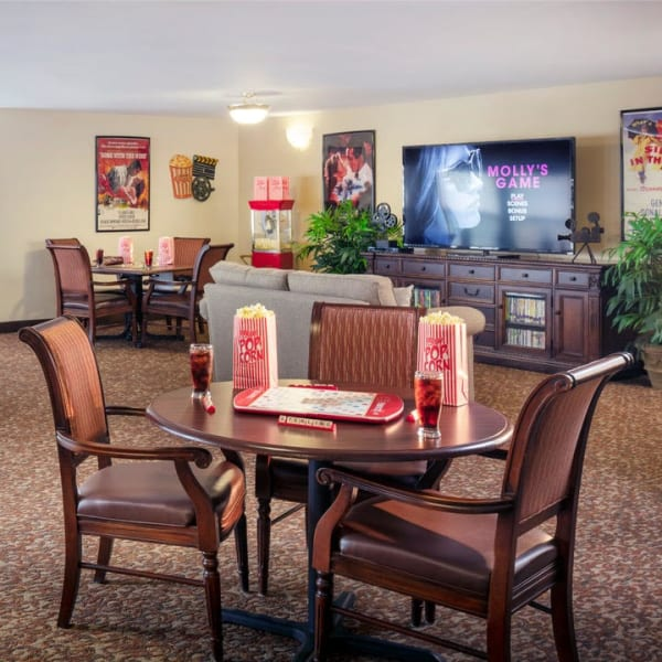 Movie nights at Pacifica Senior Living Sterling in Sterling, Virginia