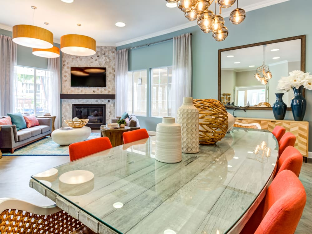 Spacious and modern open-concept floor plan in a model home at Sofi Westview in San Diego, California