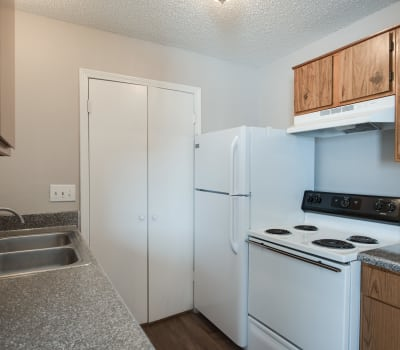 Fully equipped kitchen at Cedar Glen Apartments