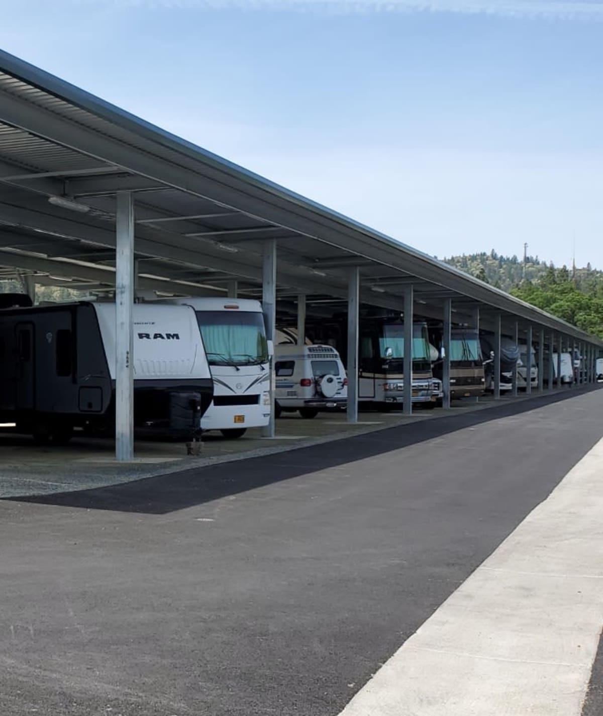 Auto, boat and RV storage at Cascade Self Storage in Grants Pass, Oregon