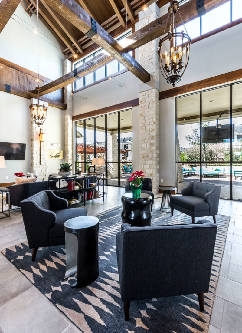 Community clubhouse at Marquis at The Woodlands in Spring, Texas