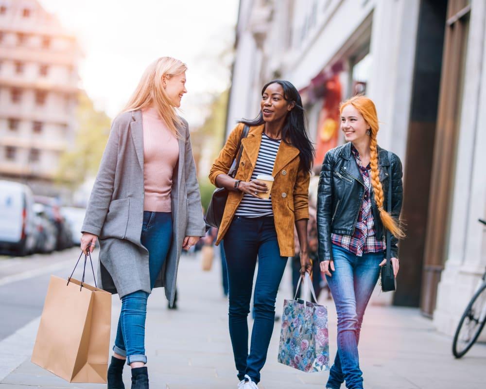 Girls shopping near The Addison in Baton Rouge, Louisiana