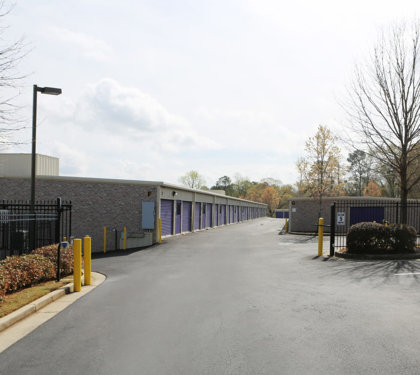 Entrance gate at StoreSmart Self-Storage in Watkinsville, Georgia